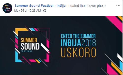 Summer Sound Festival Facebook Najava