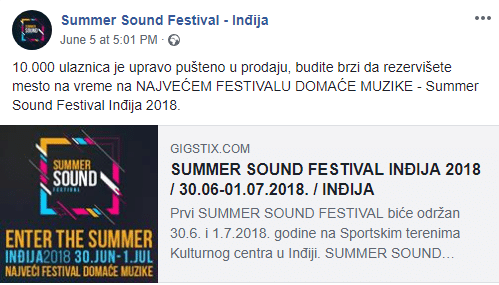 Summer Sound Festival 10.000 ulaznica u prodaji