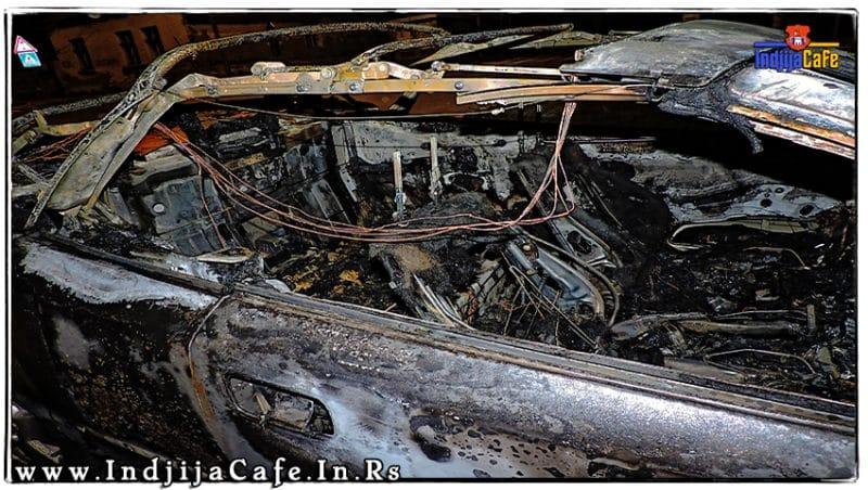 Izgoreo Auto Dunavska Indjija Opel Astra