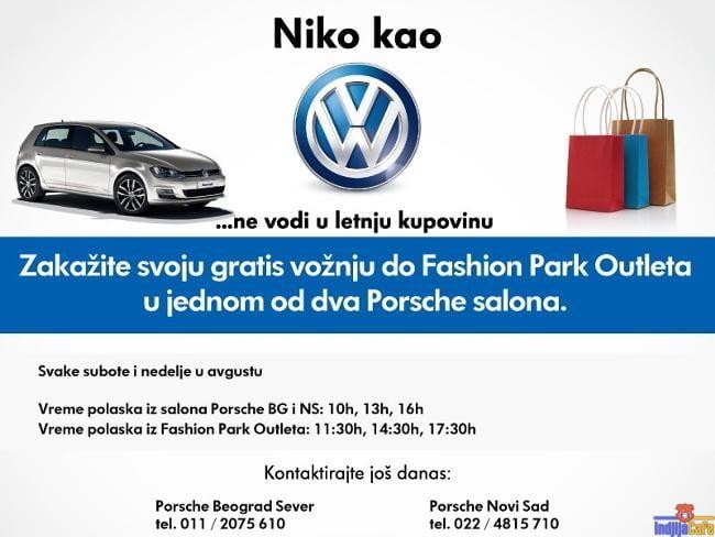 Gratis voznja sa Volkswagen UP u Autlet