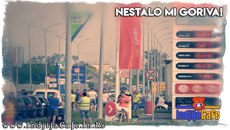 Nestalo mi goriva - Protest zbog cene goriva